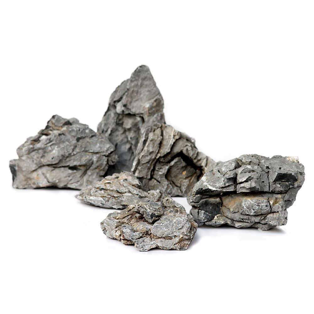"""This richly textured natural rock allows you to create beautiful underwater scenes quickly and easily in your aquarium. The rock, named """"Seiryu"""" in Japanese, looks..."""