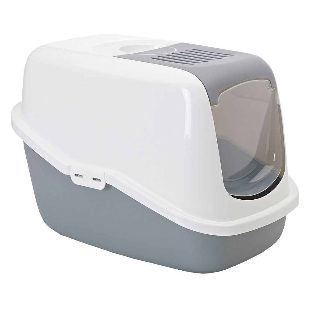 Savic Nestor Light Grey Cat Litter Box