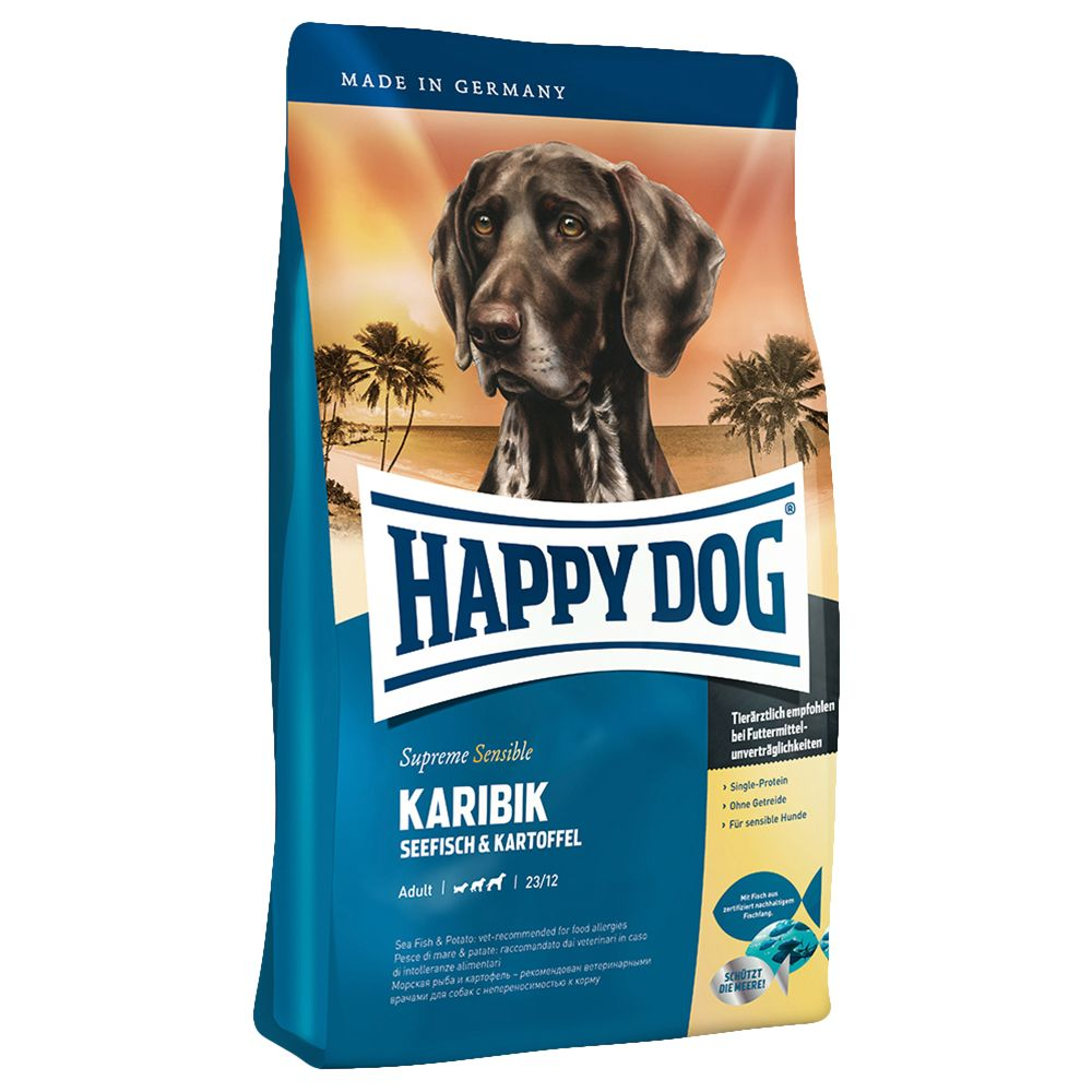 Happy Dog Supreme Sensible Caribbean is a high quality dry food with select ingredients from Caribbean cuisine for all adult dogs with normal energy requirements. ...