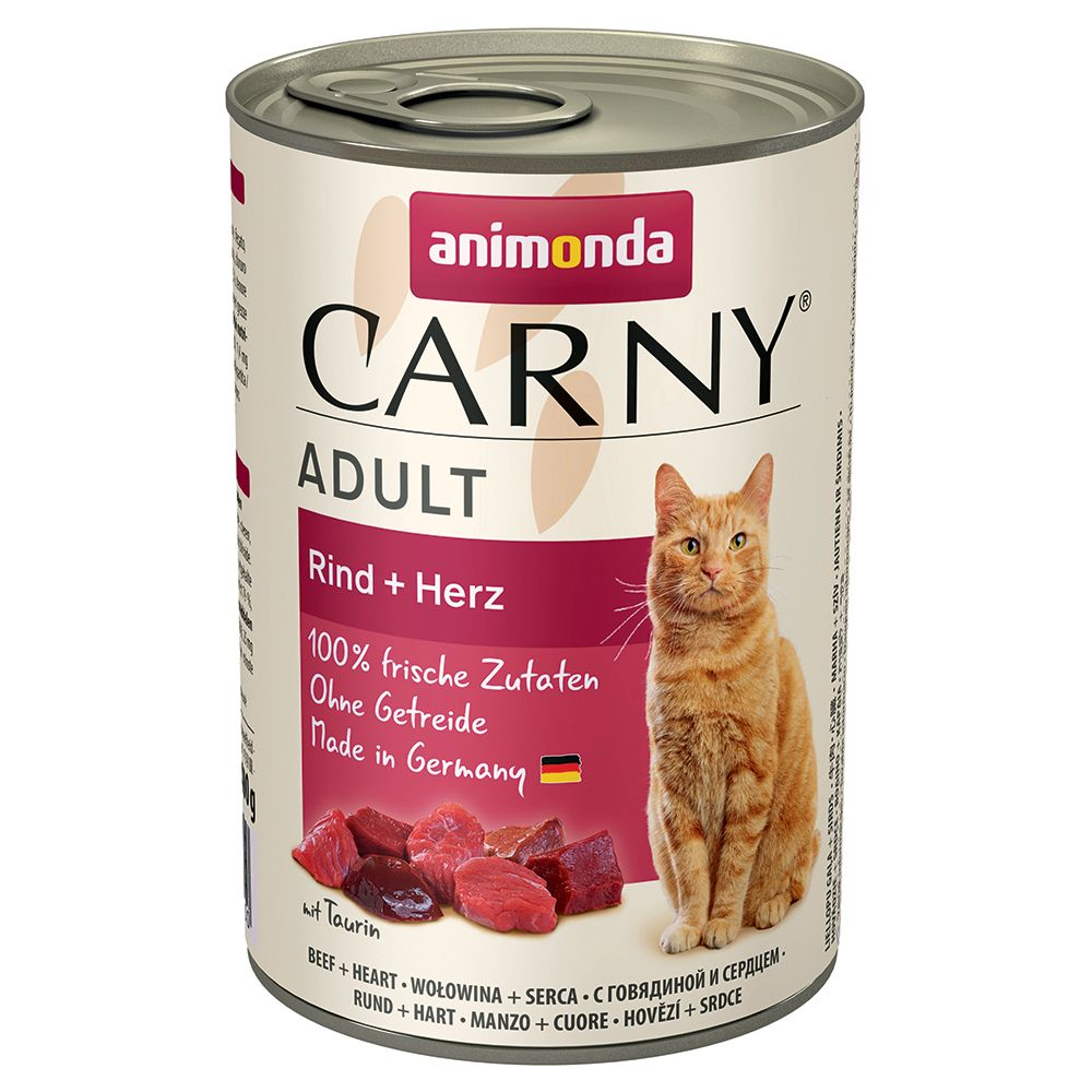Senior Beef & Turkey Hearts Animonda Carny Wet Cat Food
