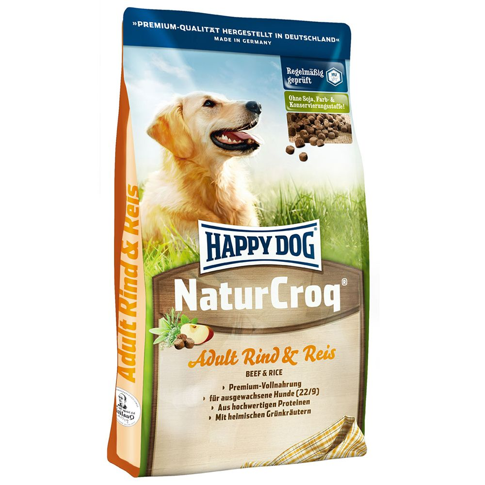 Happy Dog Natur-Croq Beef with Rice - 15kg