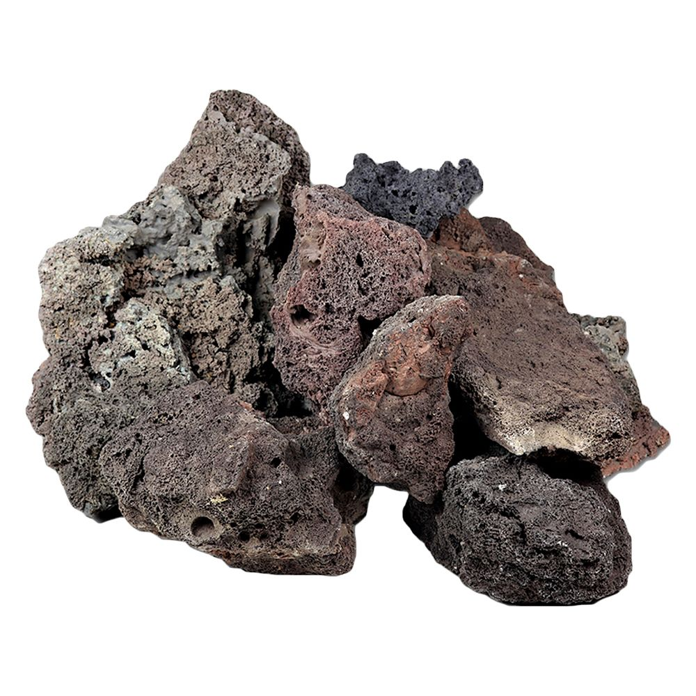 Icelandic Lava Rock - Aquarium Decoration - 100 cm Set: 10 natural rocks, approx. 6 kg