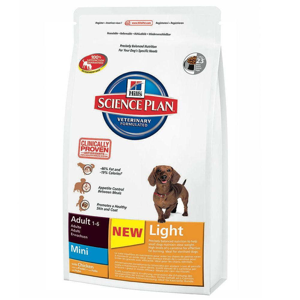 Hill's Science Plan Adult Light Mini - Chicken - Economy Pack: 3 x 2.5kg