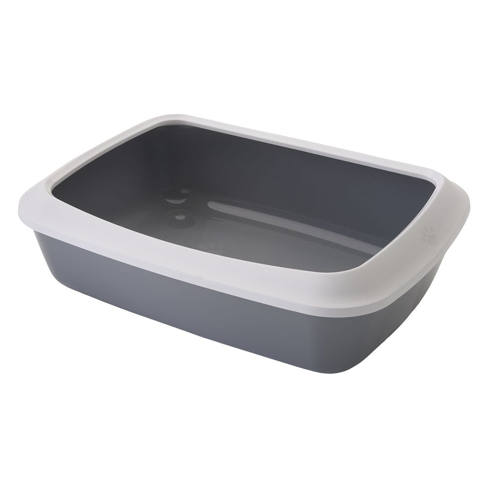 Savic Grey Iriz Cat Litter Tray with Protective Edge