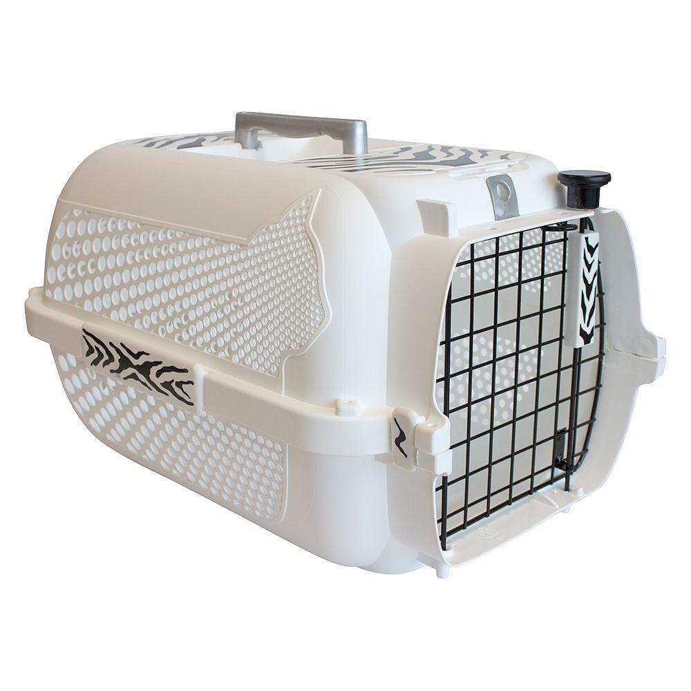 Catit Voyageur White Tiger Pet Carrier - White - 48 x 32 x 28 cm (L x W x H)
