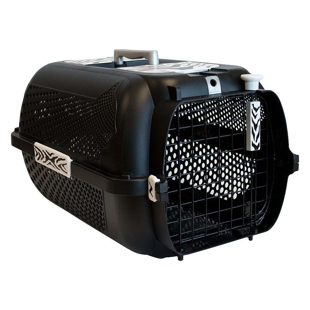 Catit Voyageur White Tiger Crate - black - 57 x 38 x 31 cm (L x W x H)