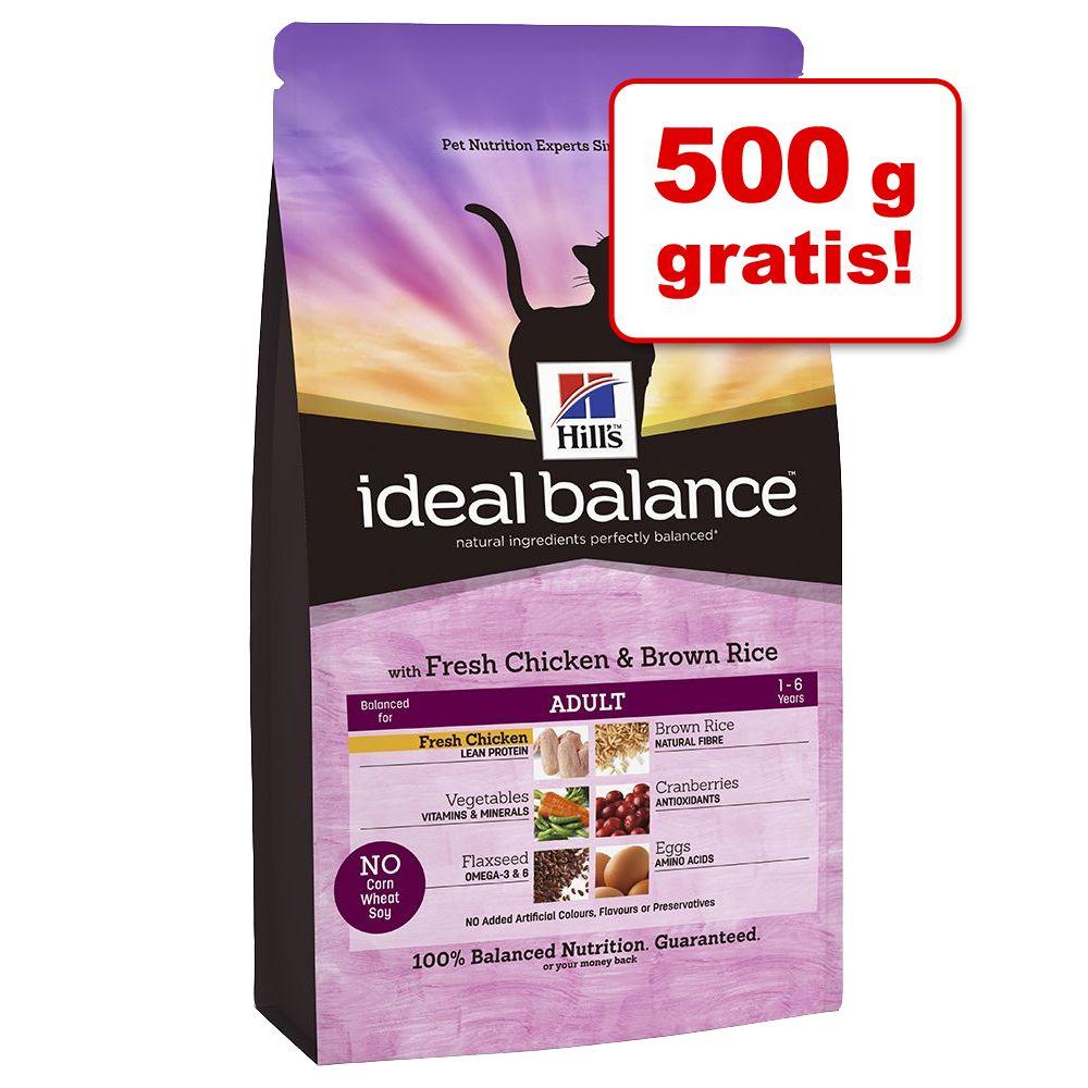 1,5 kg + 500 g gratis! 2 kg Hill´s Feline Ideal Balance - Mature Huhn & Reis
