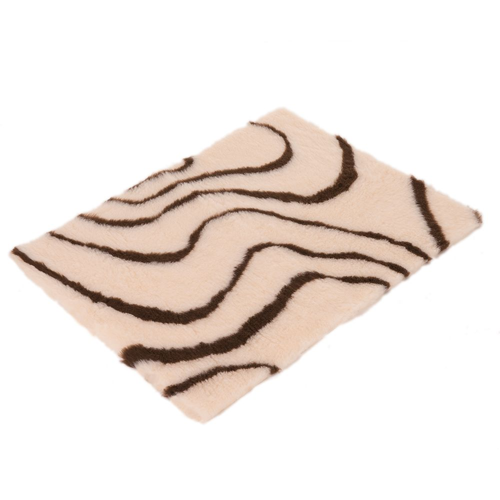 Vetbed® Isobed SL Wave Pet Blanket - Cream/Brown - 75 x 50 cm (L x W)