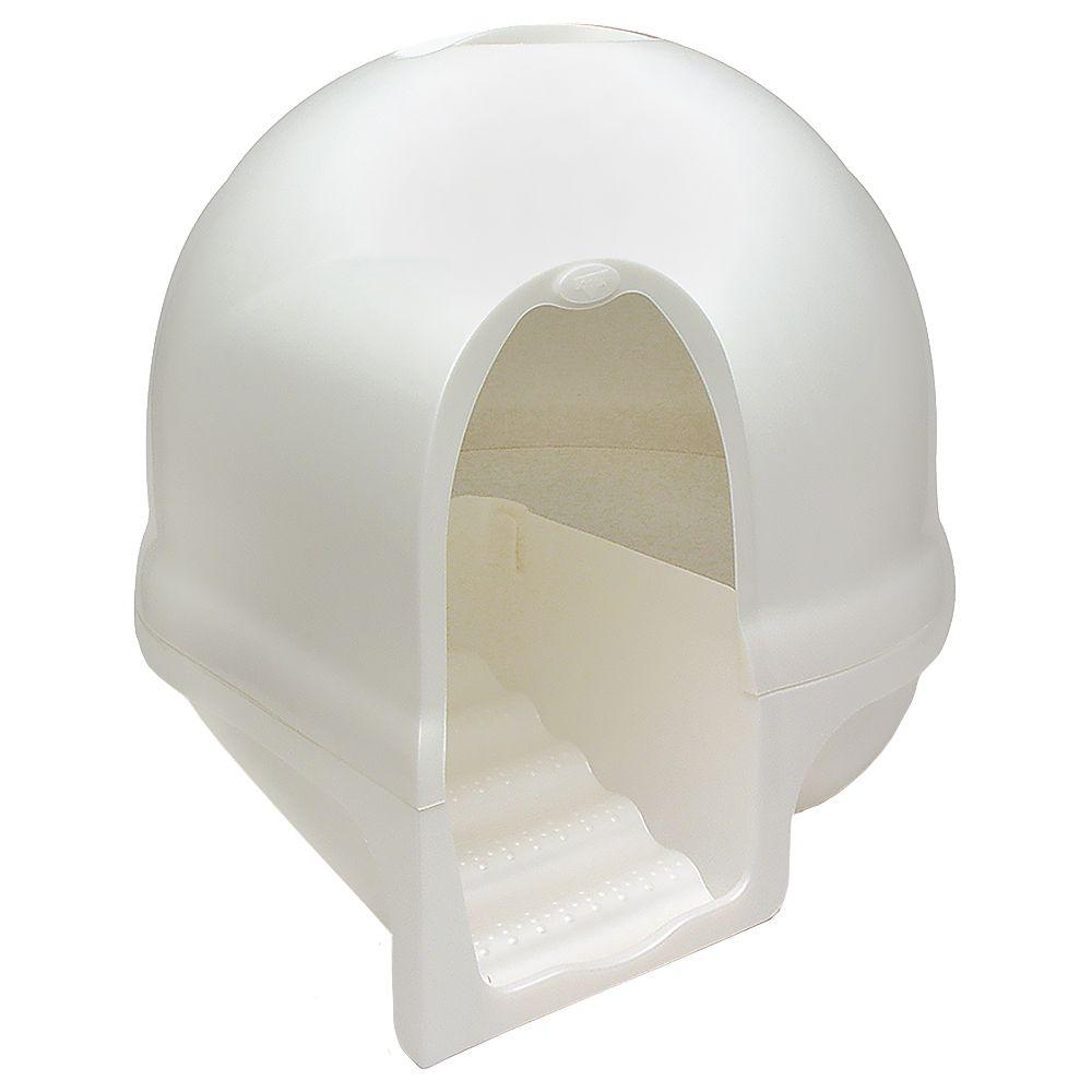 Foto Toilette per gatti Petmate Booda Cleanstep - bianco perla Toilette innovative