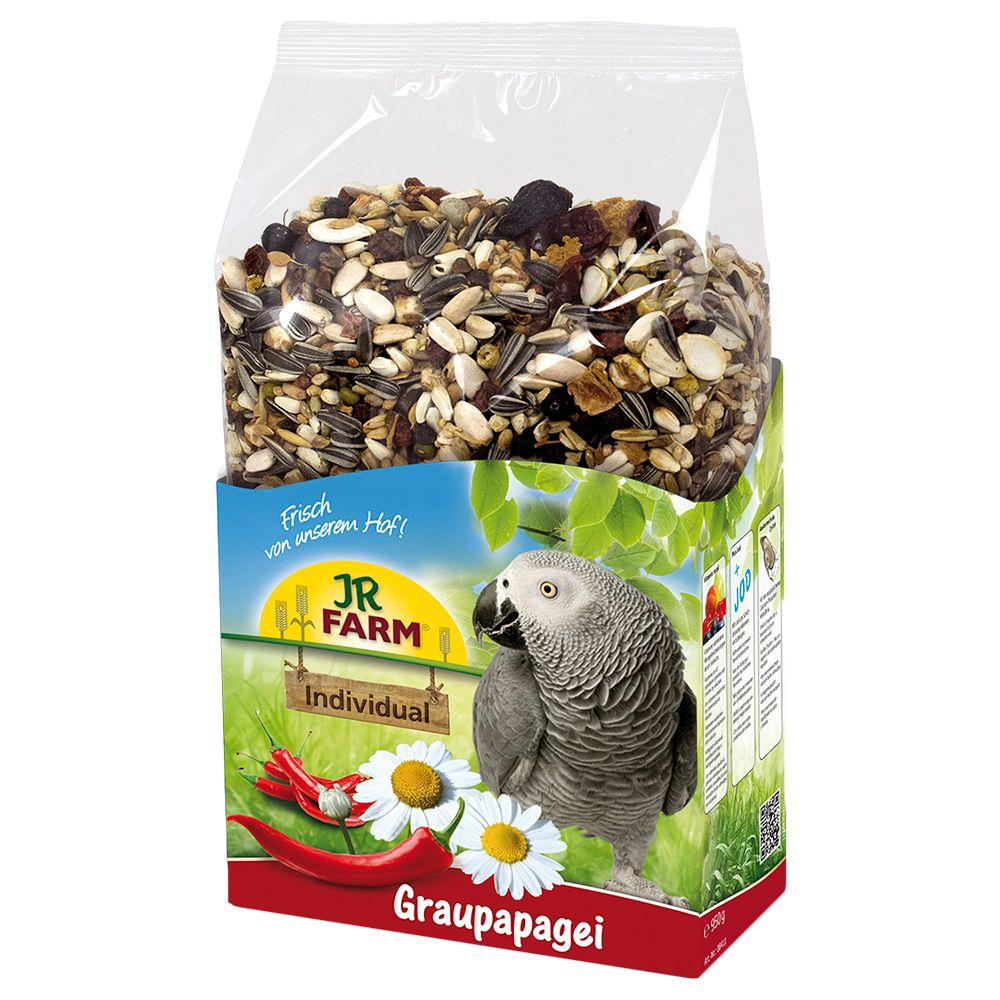JR Birds Individual Grey Parrot Food - 950g