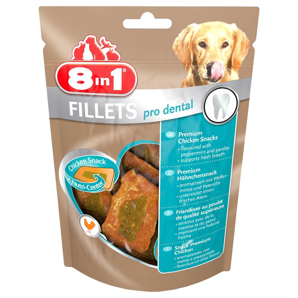 Small Pro Dental 8in1 Fillets Dog Snacks
