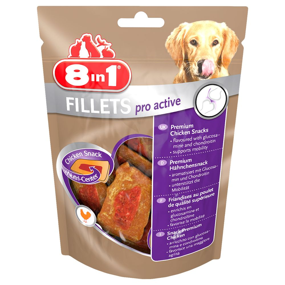 Small Pro Active Fillets 8in1 Dog Treats