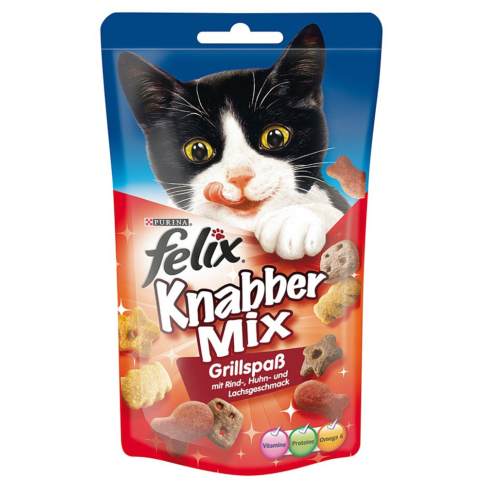 Felix Goody Bag Treats 60g - Saver Pack: 3 x Game Mix