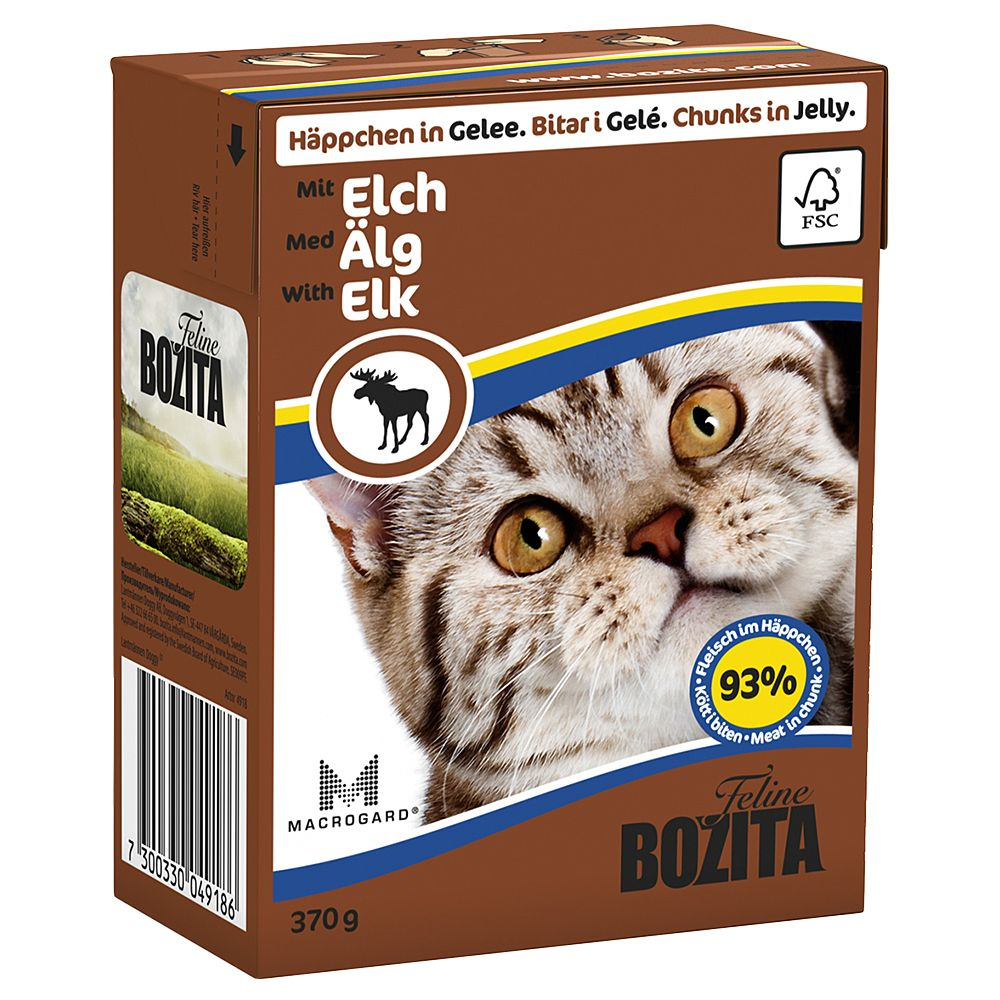 Elk Chunks in Jelly Bozita Tetra Pak Wet Cat Food