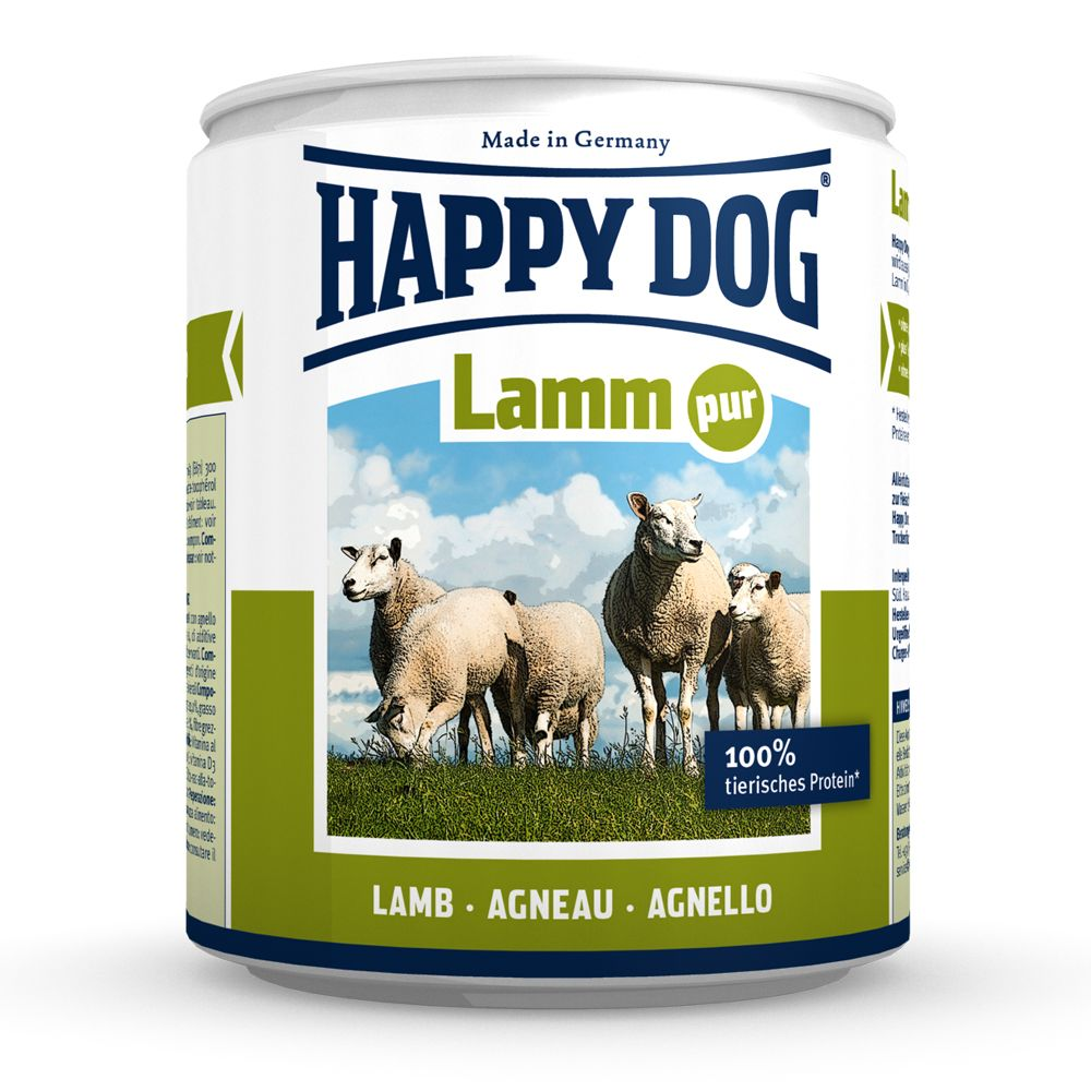 Foto Happy Dog Pur 6 x 800 g - Agnello puro Cibo umido Happy Dog