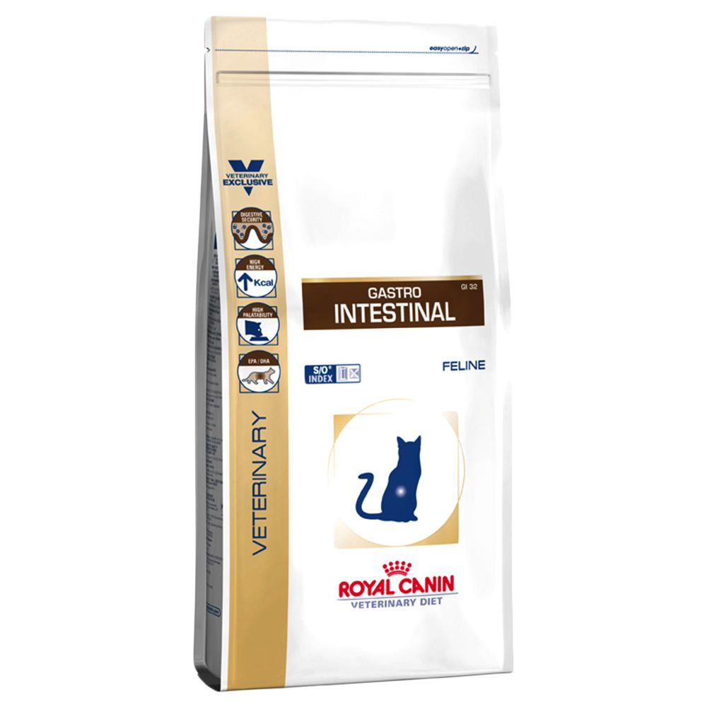 Royal Canin Veterinary Diet Cat - Gastro Intestinal GI 32 - Economy Pack: 2 x 4kg