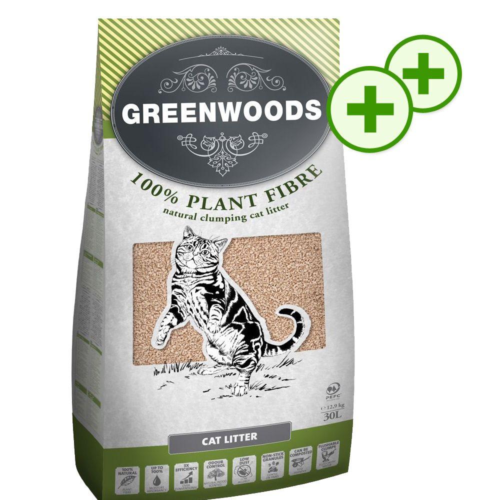 Podwójne punkty bonusowe: Greenwoods Plant Fibre, 30 l - 30 l (ok. 12,9 kg)