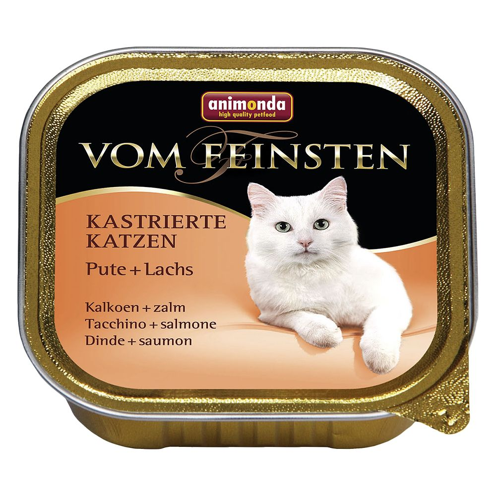 Animonda vom Feinsten for Neutered Cats 6 x 100g - Turkey & Salmon