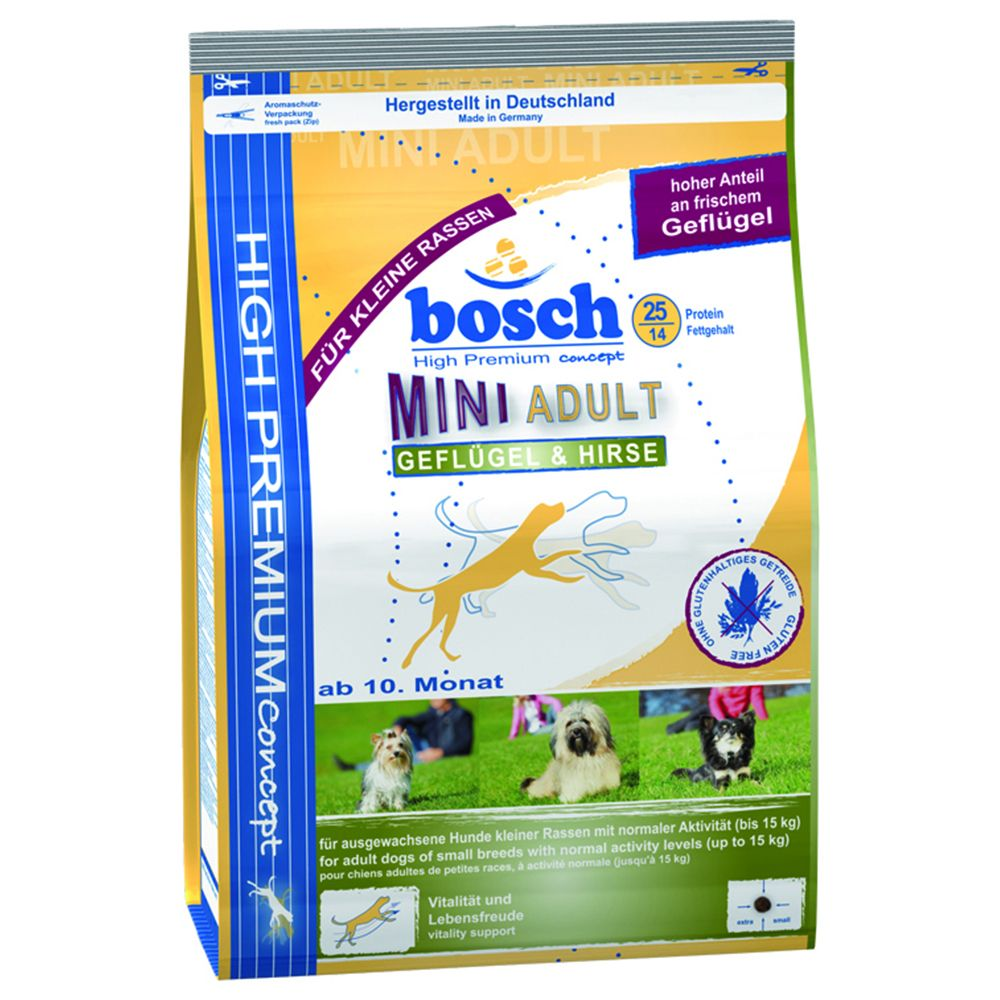 Image of Bosch HPC Mini Adult Pollo & Miglio - % 2 x 3 kg