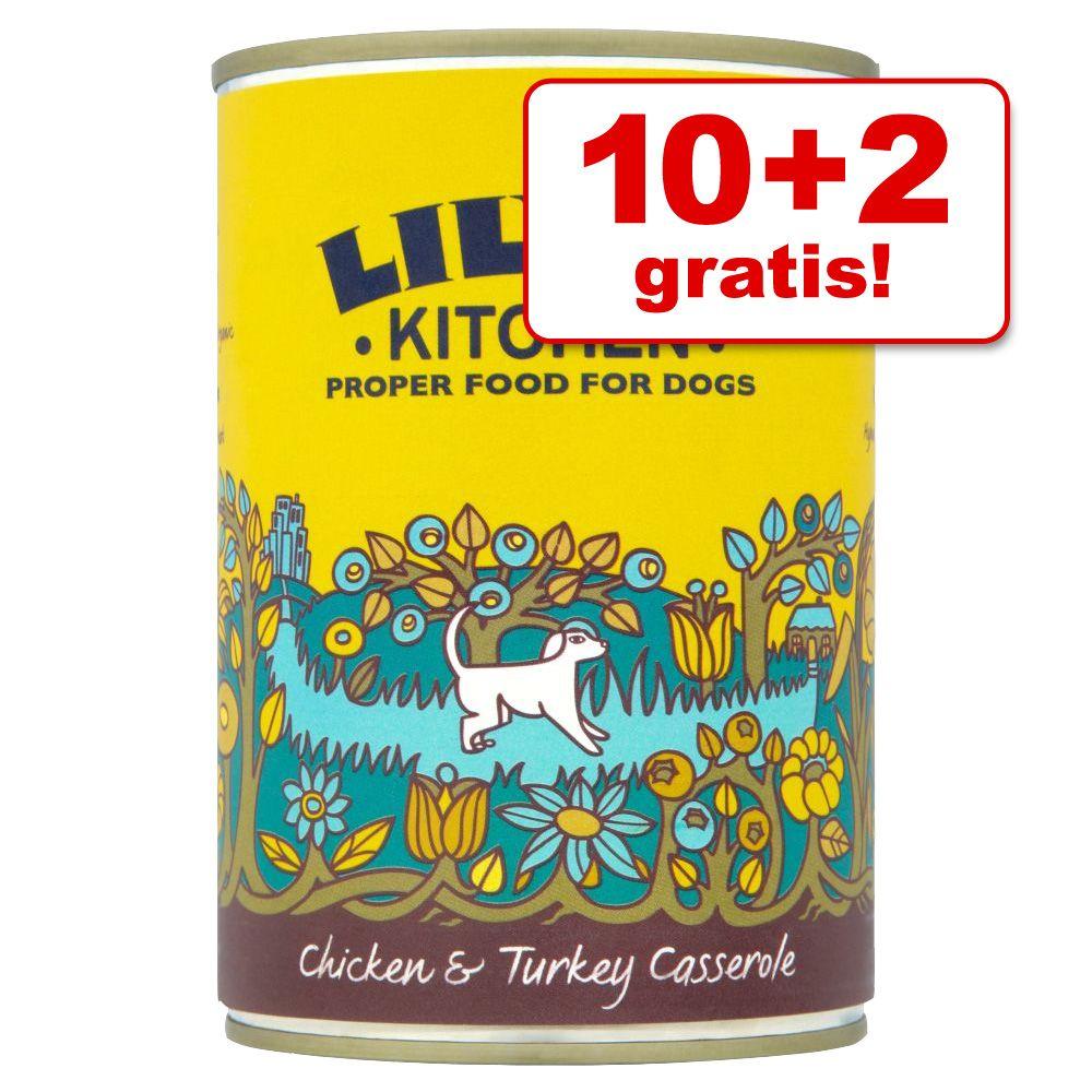 10 + 2 gratis! 12 x 400 g Lily´s Kitchen Dinner - Homestyle Casserole mit Huhn & Truthahn