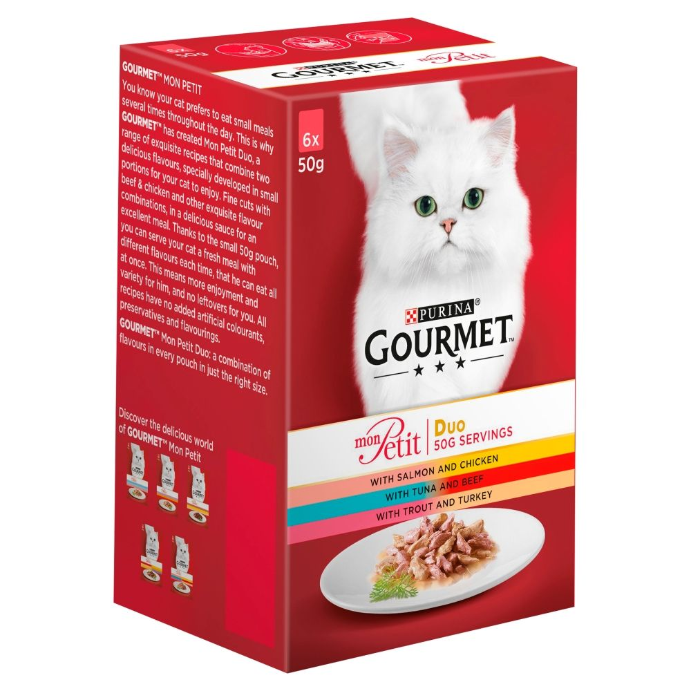 36 x 50g Gourmet Mon Petit Wet Cat Food - 24+ 12 Free!* - Fish Mixed Pack (36 x 50g)