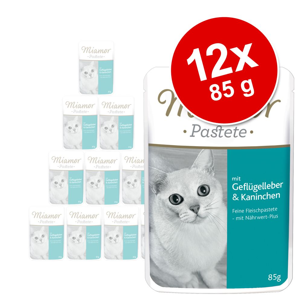 Miamor Pastete Pouch 12 x 85 g - Geflügel & Lachs