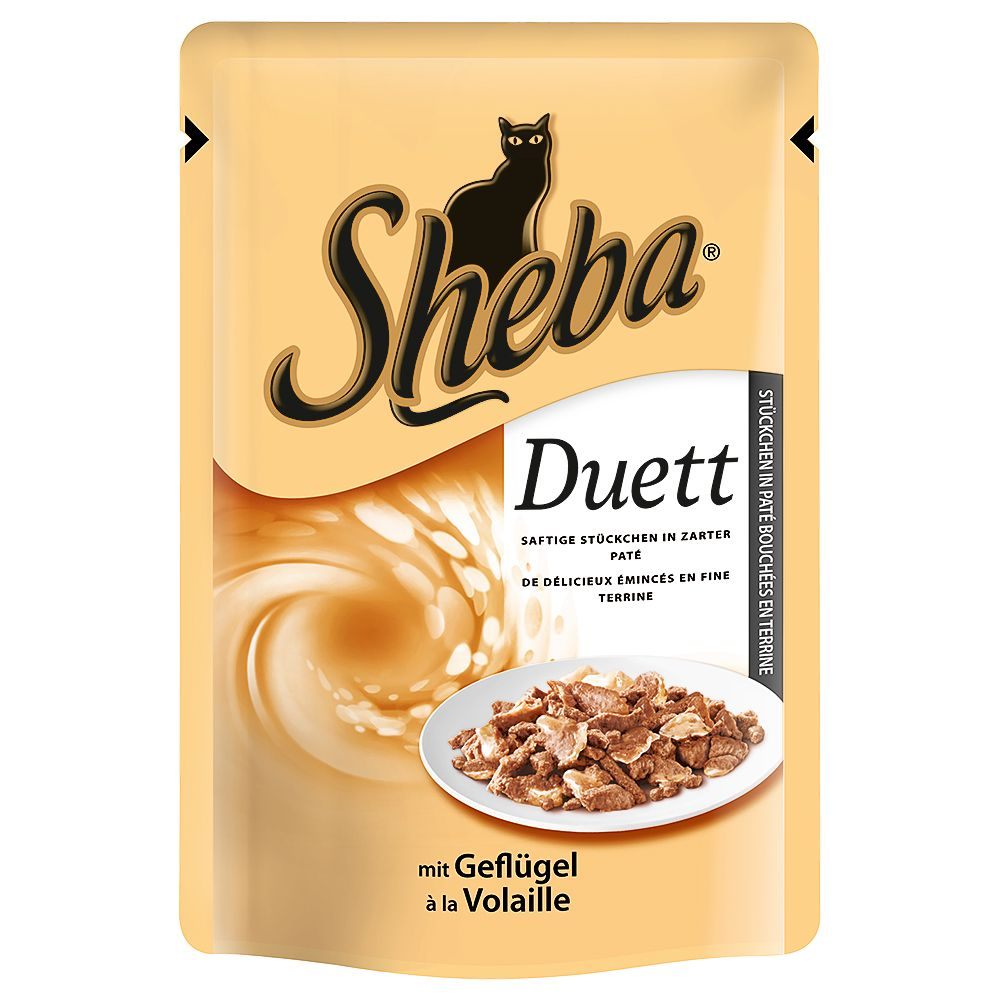 Sheba Pouches 6 x 85g - Delicate Duo with Chicken & Beef