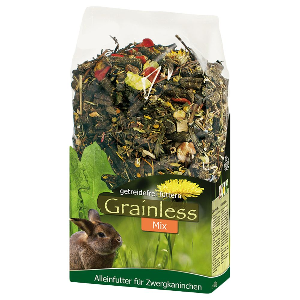 JR Farm Herbs Grainless Dwarf Rabbit Food Mix - Economy Pack: 3 x 1.7kg