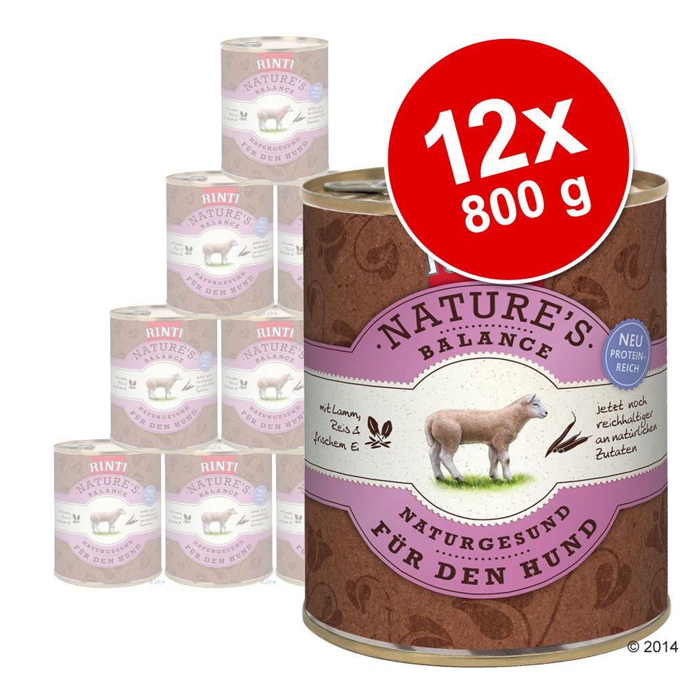 Korzystny pakiet Rinti Nature´s Balance, 12 x 800 g - Wołowina, ziemniaki i świeże jajko