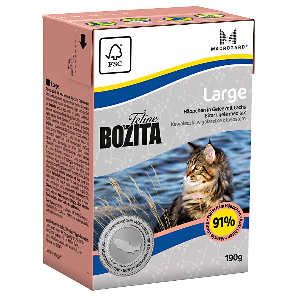16x190g Sensitive Diet & Stomach Tetra Pak Bozita Wet Cat Food