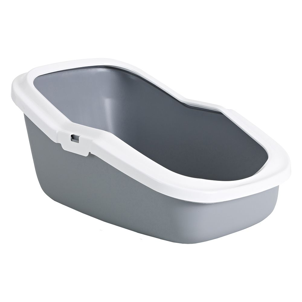Savic Aseo Cat Litter Tray with High Edge - Grey