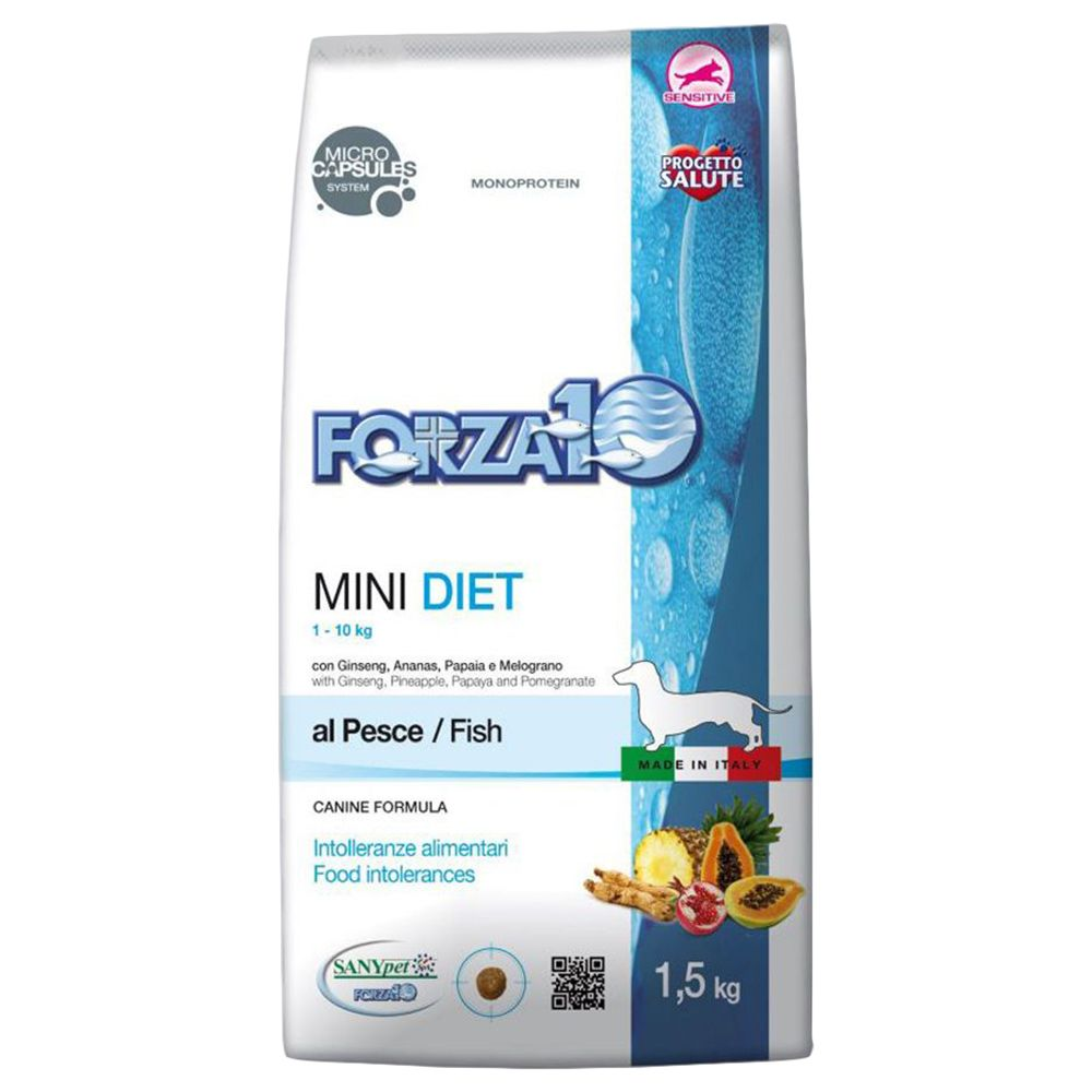 Forza 10 Mini Diet with Fish - Economy Pack: 2 x 1.5kg