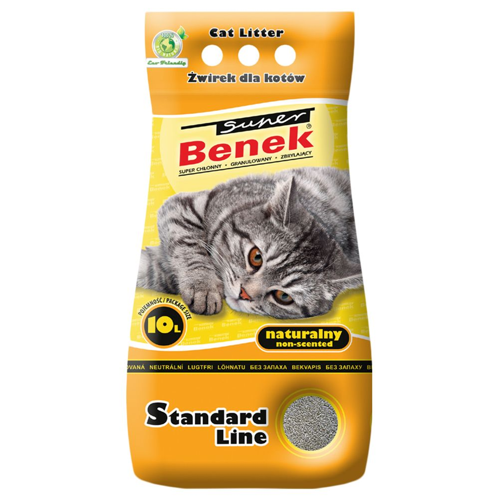 Super Benek Natural Cat Litter - 10 litres