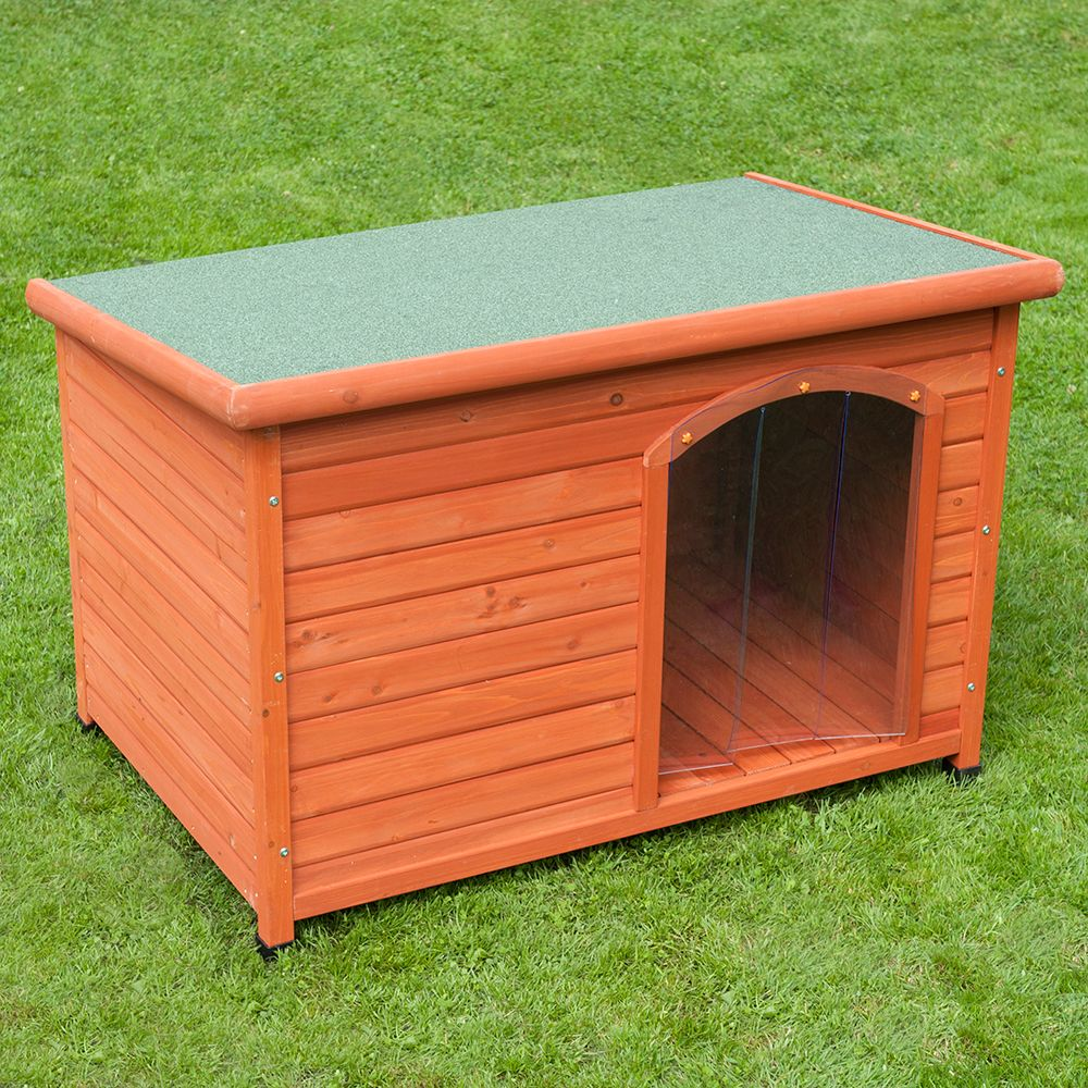 Woody Flat-Roofed Dog Kennel Size L