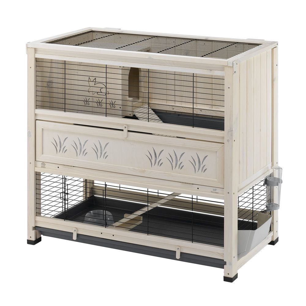 Wooden Cottage Indoor Ferplast Rabbit Cage White Indoor Hutch