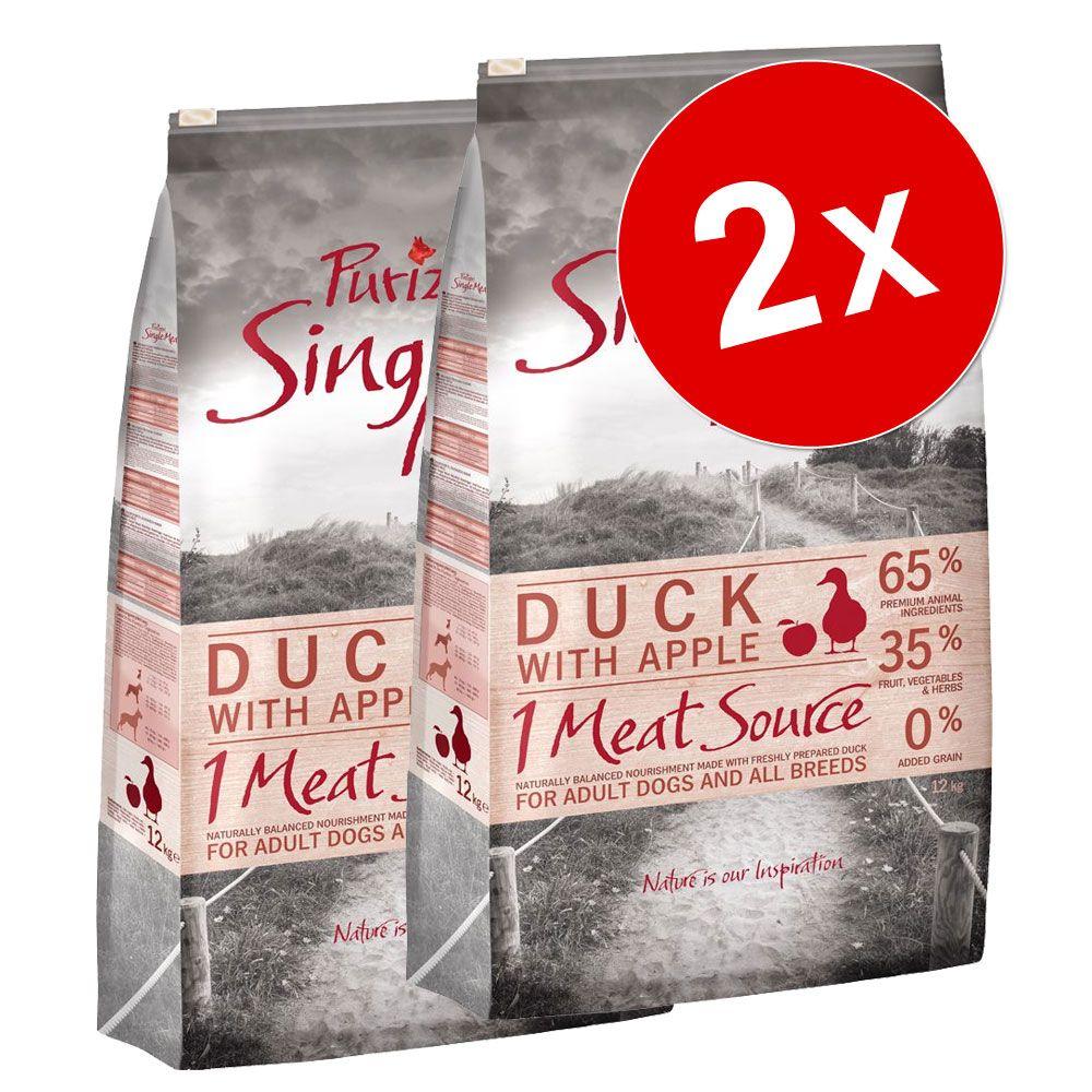 2x12kg Single Meat Adult agneau petits pois Purizon - Croquettes pour chien