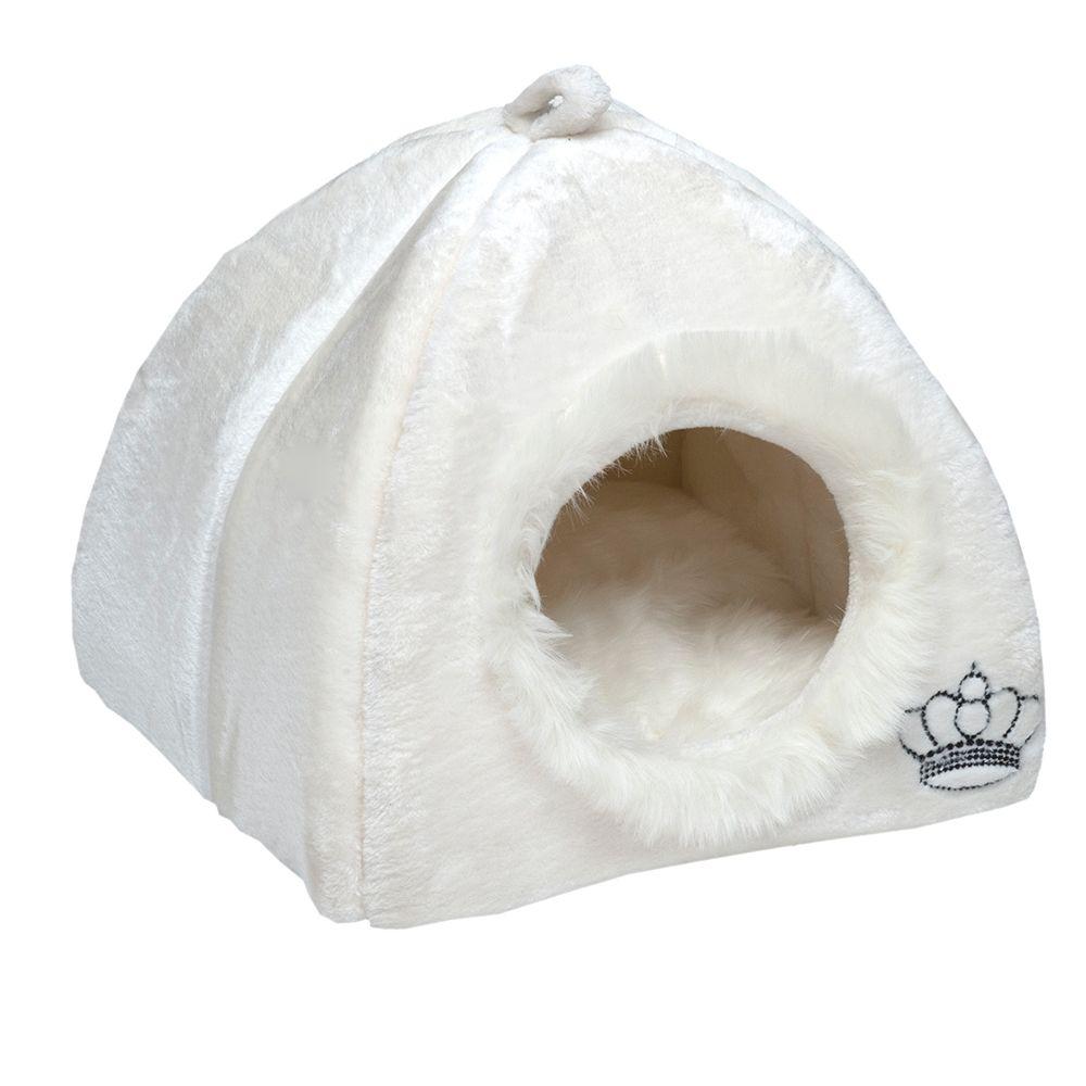Kuschelhöhle Royal Pet White - Waschbeutel XL: L 75 x B 80 cm