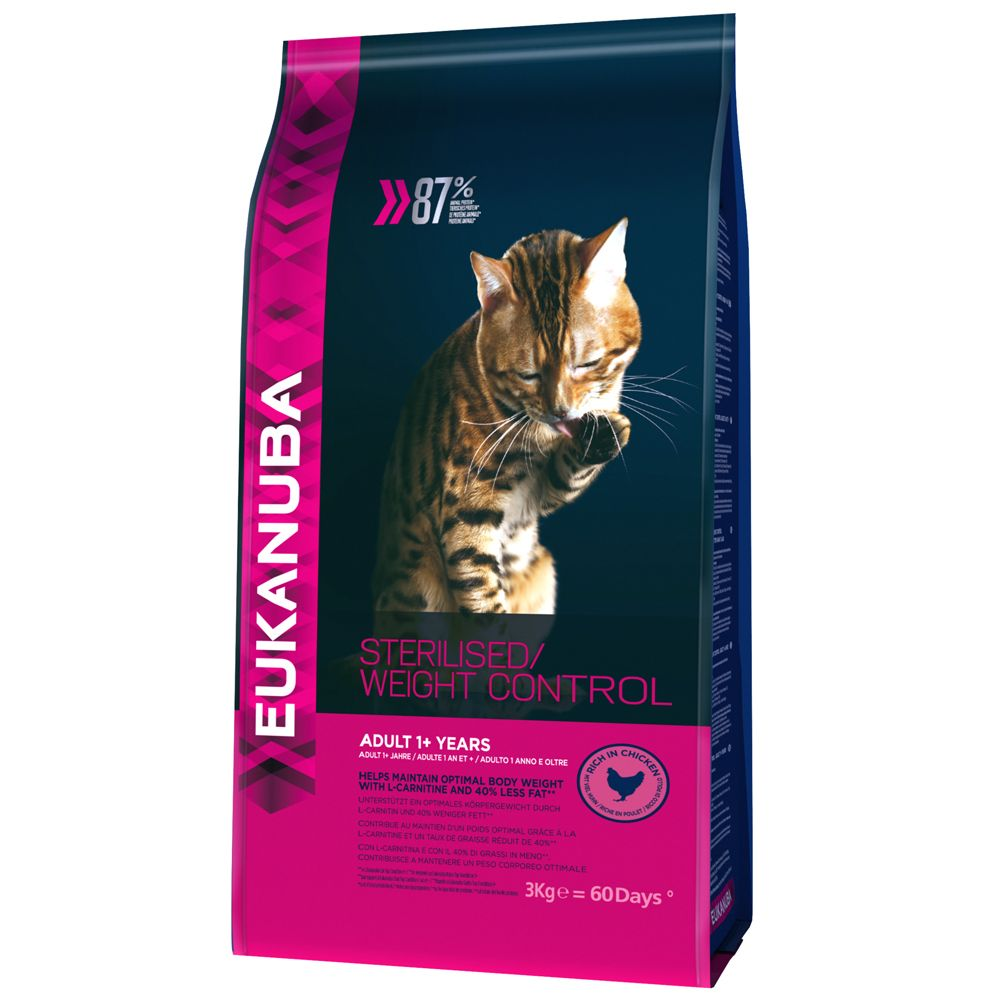 Sterilised/Weight Control Adult Eukanuba Dry Cat Food