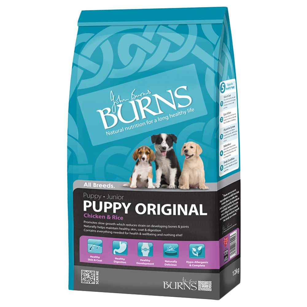 Burns Dry Dog Food Economy Packs - Puppy Mini Chicken & Rice 2 x 12kg