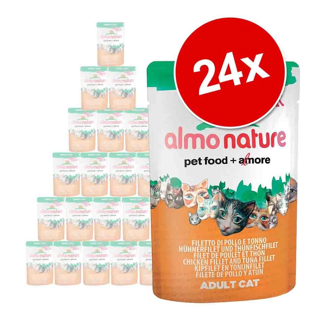 Korzystny pakiet Almo Nature Label, 24 x 55 / 70 g - Rouge Label Filets: Filet z kurczaka i surimi, 55 g