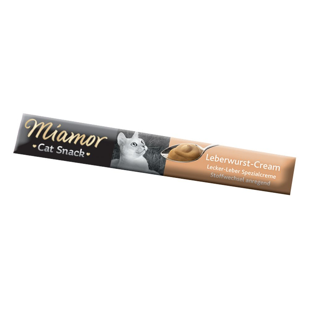 Miamor Cat Confect Liver Pâté Cream - 6 x 15g