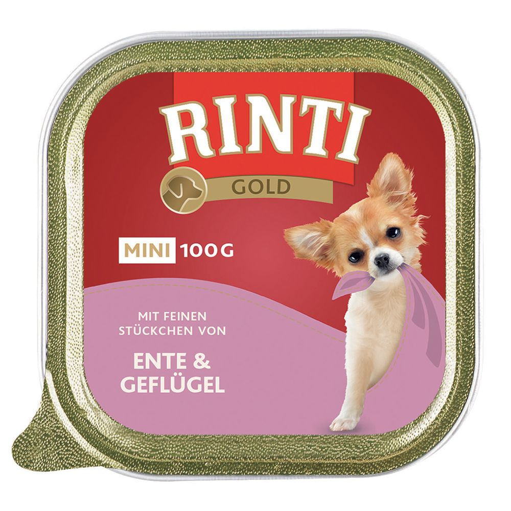 Rinti Gold Mini 6 x 100g - Duck & Poultry