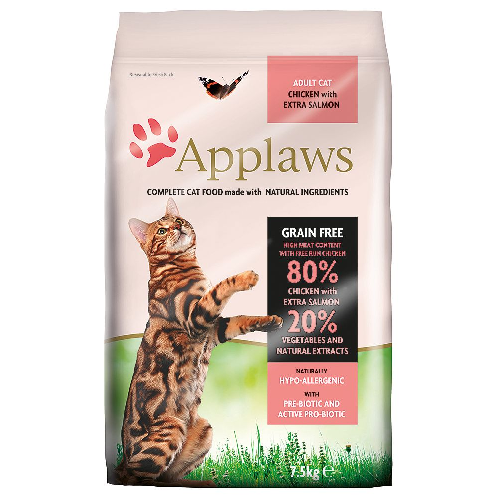 INOpets.com Anything for Pets Parents & Their Pets Applaws Chicken & Salmon Cat Food - 400g