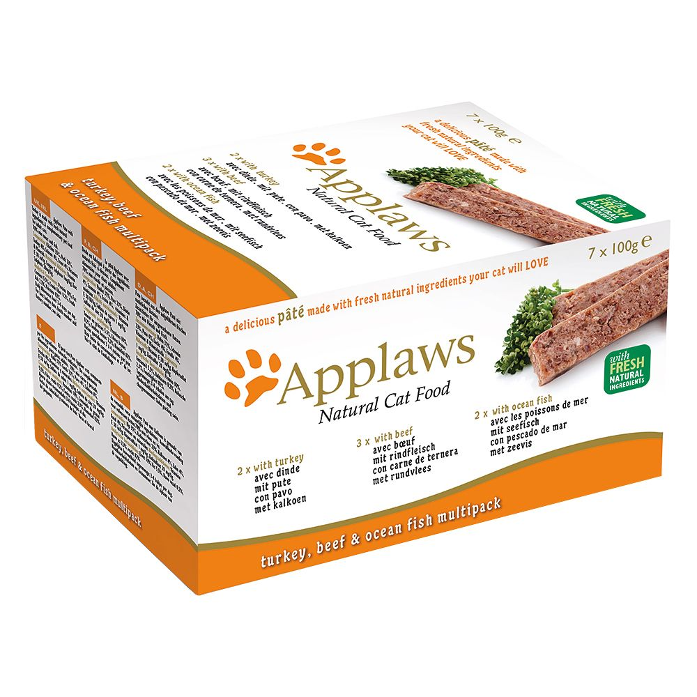 Applaws Cat Pate Mixed Multipack 7 x 100g