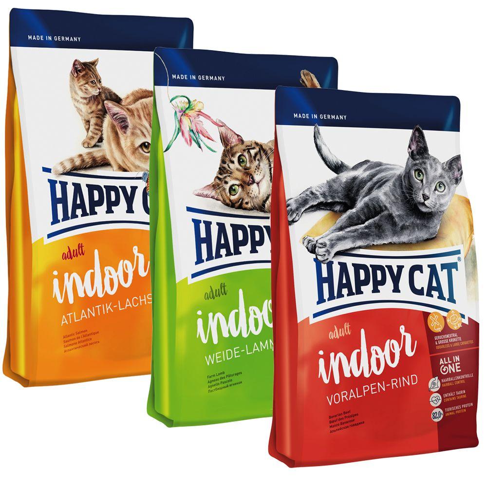 Happy Cat Indoor Adult Mixed Trial Pack 3 x 1.4kg - 3 Varieties