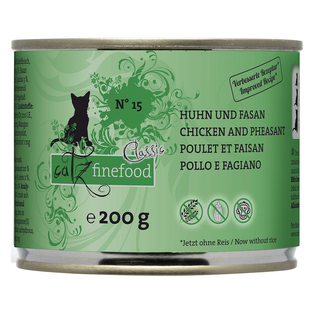 6x200g Chicken & Pheasant Catz Finefood Wet Cat Food