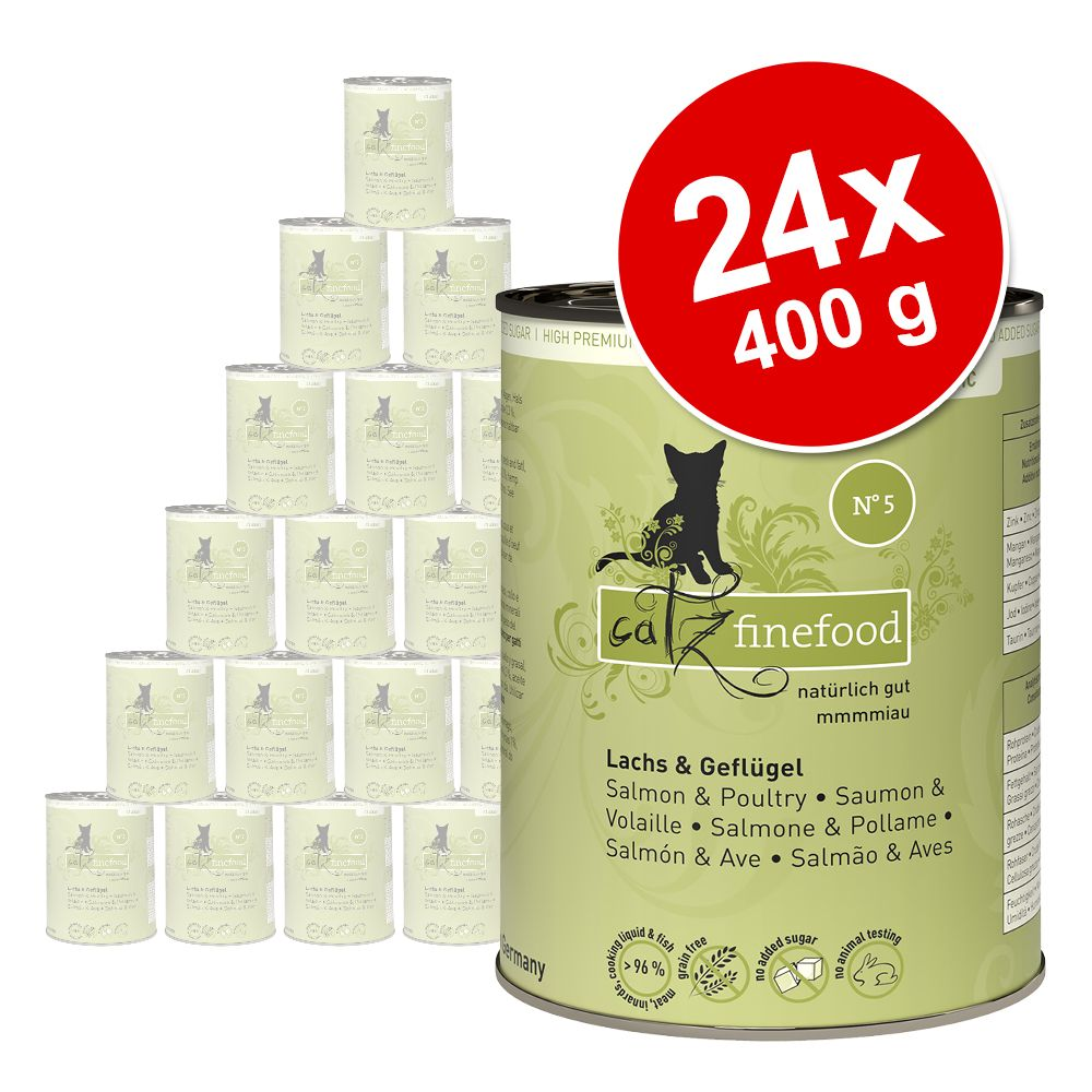 Ekonomipack: catz finefood på burk 24 x 400 g - Lamm & kanin