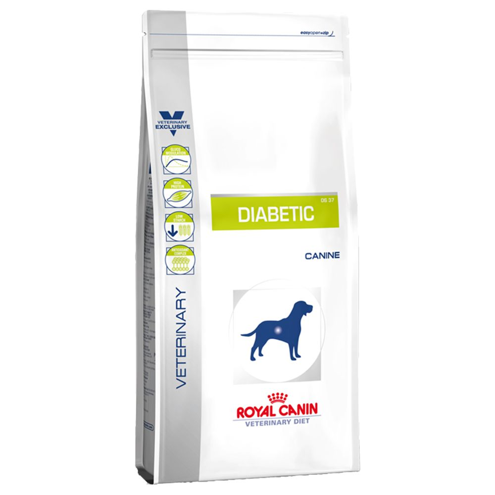 Royal Canin Veterinary Diet - Diabetic DS37 is a complete food for dogs over 1 year old suffering from diabetes. Diabetes is a really common problem in dogs and sh...