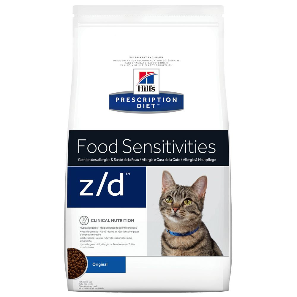 4kg Food Sensitivities z/d Feline Prescription Diet Hill's Dry Cat Food
