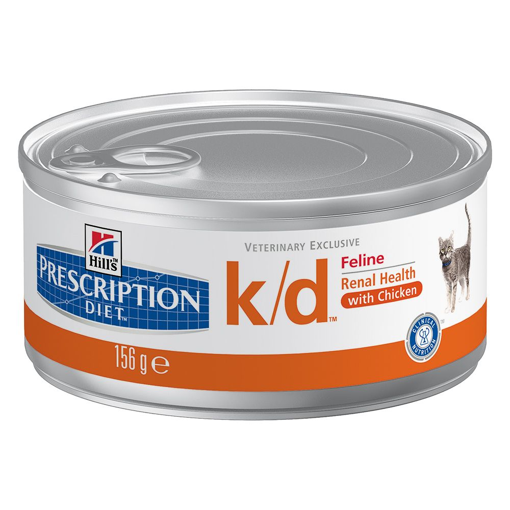 Hill's Prescription Diet Feline - k/d Kidney Care - 12 x 156g cans